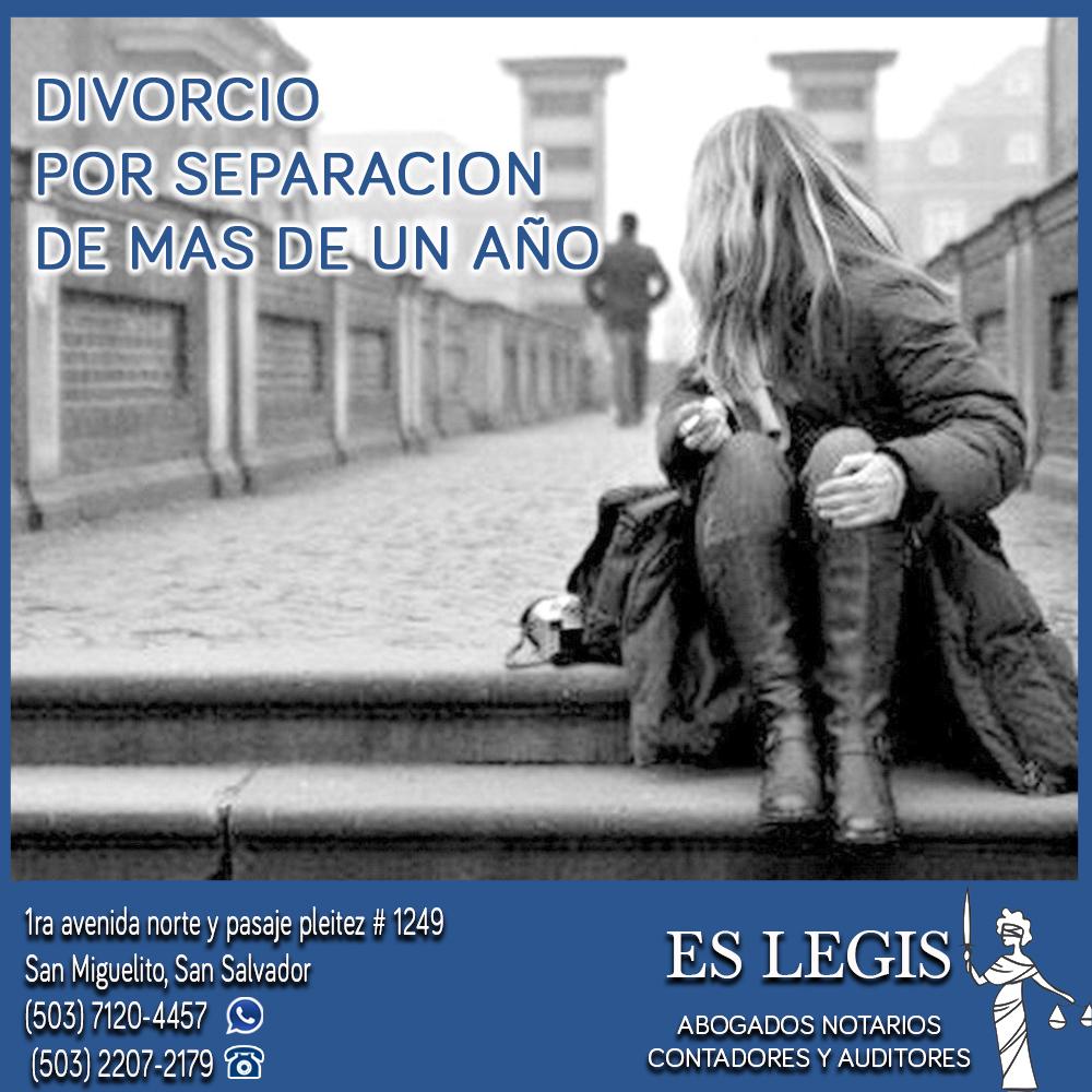 Divorcio por Separación de mas de un año en El Salvador